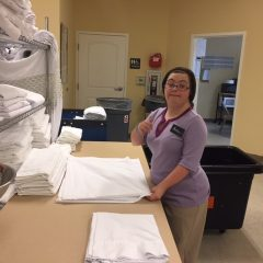 Amanda, a SABC client, working at Hampton Inn