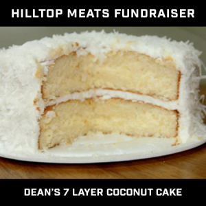 Hilltop Meat Fundraiser – Dean's Seven Layer Cake – Coconut